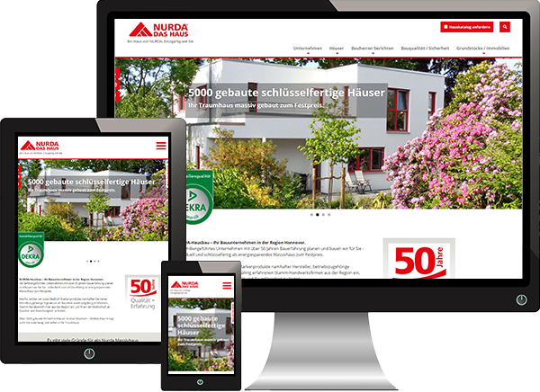 Website NURDA-Hausbau