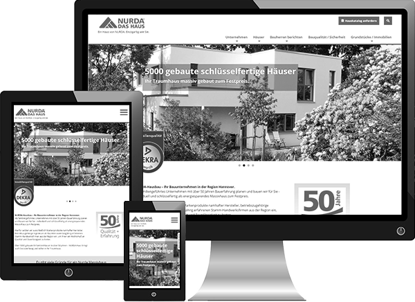 NURDA-Hausbau Website